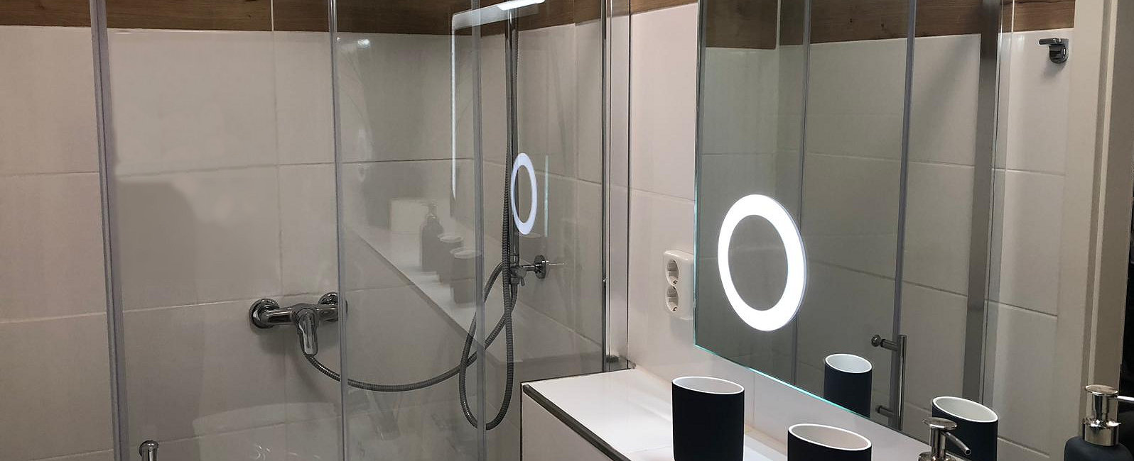 Bath with Toilet/Shower